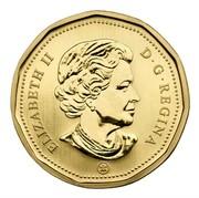 Canada Dollar Trumpeter Swan 2007 (ml) KM# 688 ELIZABETH II D • G • REGINA coin obverse