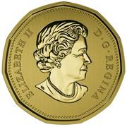Canada Dollar Tundra Swan Loonie 2016 Specimen KM# 2088 ELIZABETH II D∙G∙REGINA coin obverse