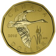 Canada Dollar Tundra Swan Loonie 2016 Specimen KM# 2088 CANADA 2016 GCS DOLLAR coin reverse