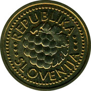 Slovenia Dve Stotinki Lipe 1992 UNC X# Tn11 Standart Coinage REPUBLIKA SLOVENIJA coin obverse