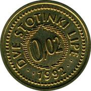 Slovenia Dve Stotinki Lipe 1992 UNC X# Tn11 Standart Coinage DVE STOTINKI LIPE 0,02 1992 coin reverse