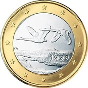 Finland Euro 1st map 1999 M Proof KM# 104 coin obverse