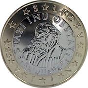 Slovenia Euro T R U B A R 2015 Proof KM# 74 SLOVENIJA STATI INU OBSTATI PRIMOŽ TRUBAR YEAR coin obverse