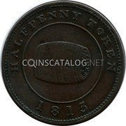 Canada Half Penny Penny Payable by Miles W White 1815  HALFPENNY TOKEN 1815 coin obverse