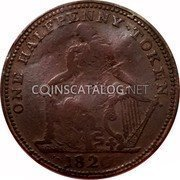 Canada Half Penny Trade and Navigation 1820 ONE HALFPENNY TOKEN 1820 coin obverse