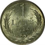 Latvia Lats 1924 KM# 7 First Republic (1918-1939) 1 LATS 1924 coin reverse
