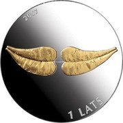 Latvia Lats Coin of Life 2007 Proof KM# 97 2007 1 LATS coin obverse