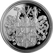 Latvia Lats Duke Jacob 2010 Proof KM# 112 coin reverse