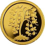 Latvia Lats Golden apple tree 2007 Proof KM# 91 coin reverse