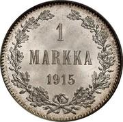 Finland Markka 1915 S KM# 3.2 Decimal Coinage 1 MARKKA 1915 coin reverse