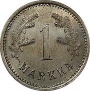 Finland Markka 1921 H KM# 27 Decimal Coinage 1 MARKKA coin reverse