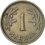 Finland Markka 1933 S KM# 30 Decimal Coinage 1 MARKKA coin reverse
