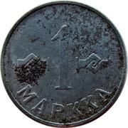Finland Markka 1952 KM# 36 Decimal Coinage 1 MARKKA coin reverse