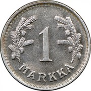 Finland Markka 1952 H KM# 30b Decimal Coinage 1 MARKKA coin reverse