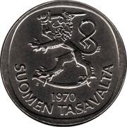 Finland Markka 1970 S KM# 49a Reform Coinage DATE SUOMEN TASAVALTA coin obverse