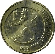 Finland Markka 1993 M Sets only KM# 76a Reform Coinage SUOMI FINLAND M 1993 coin obverse