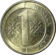 Finland Markka 1993 M Sets only KM# 76a Reform Coinage 1 MARKKA MARK coin reverse