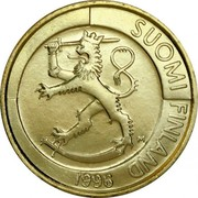 Finland Markka 1996 M Proof KM# 76 Reform Coinage SUOMI FINLAND DATE coin obverse