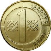 Finland Markka 1996 M Proof KM# 76 Reform Coinage 1 MARKKA MARK coin reverse