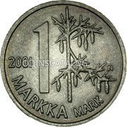 Finland Markka 2001 M N-M KM# 106 Reform Coinage coin reverse