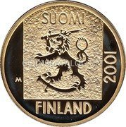 Finland Markka 2001 M P-M Proof KM# 95 Reform Coinage coin obverse