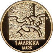 Finland Markka 2001 M P-M Proof KM# 95 Reform Coinage coin reverse