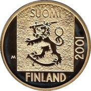 Finland Markka Last Markka Coin 2001 M P-M Proof KM# 95 SUOMI 2001 FINLAND M coin obverse