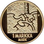 Finland Markka Last Markka Coin 2001 M P-M Proof KM# 95 P 1 MARKKA MARK coin reverse