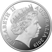 Australia One Dollar (Australian Kangaroo. Seasons Change) ELIZABETH II AUSTRALIA 2019 1 DOLLAR IRB coin obverse