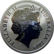 Australia One Dollar Kangaroo 2009 KM# 1082 ELIZABETH II AUSTRALIA 2009 IRB coin obverse