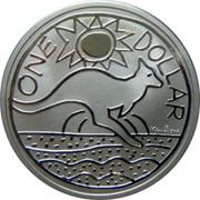 Australia One Dollar Kangaroo 2009 KM# 1082 ONE DOLLAR KEN DONE coin reverse