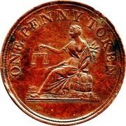 Canada One Penny (Token Thomas Halliday) ONE PENNY TOKEN coin reverse