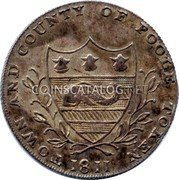 UK One Shilling (Dorsetshire - Poole J. Ferris) TOWN AND COUNTY OF POOLE TOKEN 1811 coin obverse