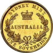 Australia One Sovereign Victoria Queen. Pattern 1855 KM# Pn4 SYDNEY MINT AUSTRALIA ONE SOVEREIGN coin reverse