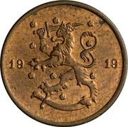 Finland Penni 1919 KM# 23 Decimal Coinage DATE coin obverse