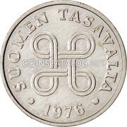 Finland Penni 1976 KM# 44a Reform Coinage coin obverse