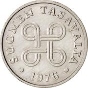 Finland Penni 1976 KM# 44a Reform Coinage SUOMEN TASAVALTA DATE coin obverse