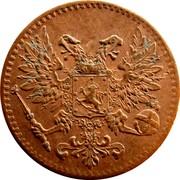 Finland Penni Nikolai II 1917 KM# 16 coin obverse