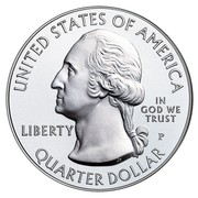 USA Quarter Dollar (Harpers Ferry) KM# 637 UNITED STATES OF AMERICA LIBERTY IN GOD WE TRUST D QUARTER DOLLAR coin obverse