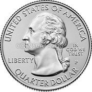 USA Quarter Dollar (War in the Pacific National Historical Park (Guam)) UNITED STATES OF AMERICA LIBERTY IN GOD WE TRUST QUARTER DOLLAR JF coin obverse