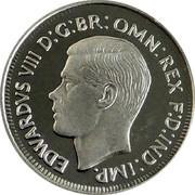 Australia Threepence Pattern 1937 KM# Pn25 EDWARDVS VIII D:G:BR: OMN: REX F:D:IND:IMP. coin obverse