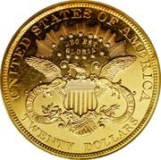 USA Twenty Dollars Quintuple Stella 1879 KM# Pn1728 UNITED STATES OF AMERICA DEO EST GLORIA E PLURIBUS UNUM TWENTY DOLLARS coin reverse