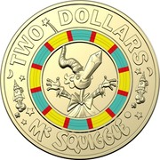 Australia Two Dollars Mr Squiggle 60 Years 2019  TWO DOLLARS MR SQUIGGLE coin reverse