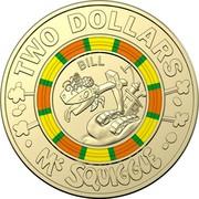 Australia Two Dollars Mr Squiggle 60 Years - Bill 2019  TWO DOLLARS BILL MR SQUIGGLE coin reverse