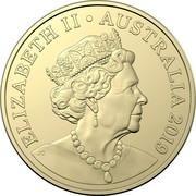 Australia Two Dollars Mr Squiggle 60 Years - Blackboard 2019  ELIZABETH II AUSTRALIA 2019 IRB coin obverse