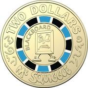 Australia Two Dollars Mr Squiggle 60 Years - Blackboard 2019  TWO DOLLARS BLACKBOARD MR SQUIGGLE coin reverse