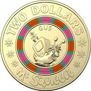Australia Two Dollars Mr Squiggle 60 Years - Gus 2019  TWO DOLLARS GUS MR SQUIGGLE coin reverse