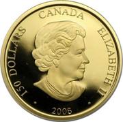 Canada 150 Dollars Year of the Dog - hologram 2006 KM# 592 150 DOLLARS CANADA ELIZABETH II ∙ 2006 ∙ SB coin obverse