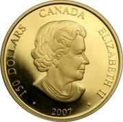 Canada 150 Dollars Year of the Pig 2007 KM# 733 150 DOLLARS ELIZABETH II CANADA ∙ 2007 ∙ SB coin obverse