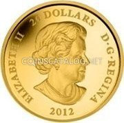 Canada 20 Dollars 2012 Proof KM# 1283 Circulation Coins coin obverse